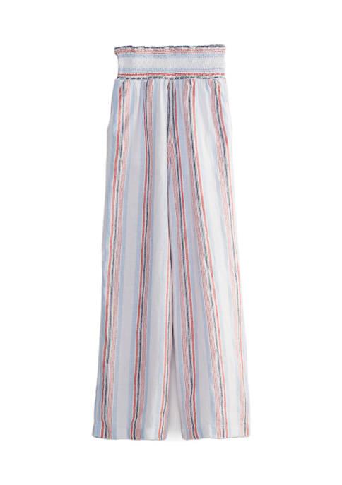 Crown & Ivy™ Womens Smocked Yarn Dye Soft