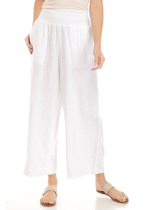 Crown & Ivy™ Womens Smocked Soft Pants