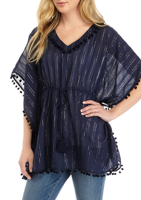 Crown & Ivy™ Womens Cinched Poncho