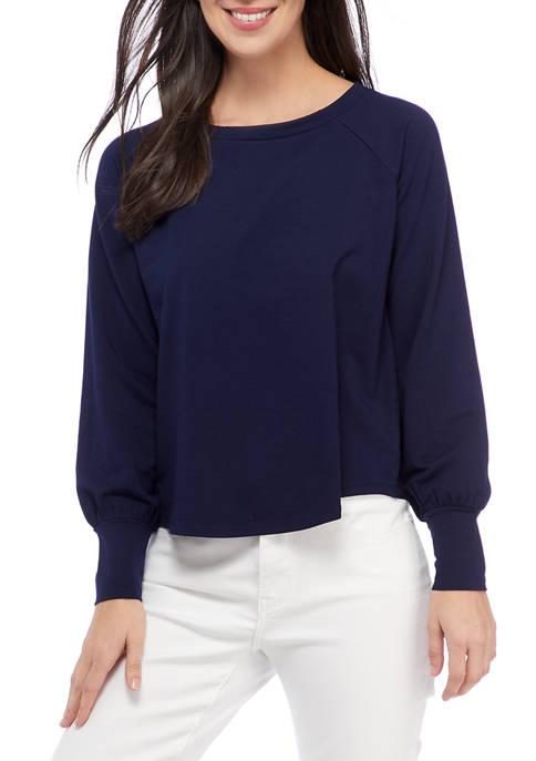 Womens Long Blouson Sleeve Pullover