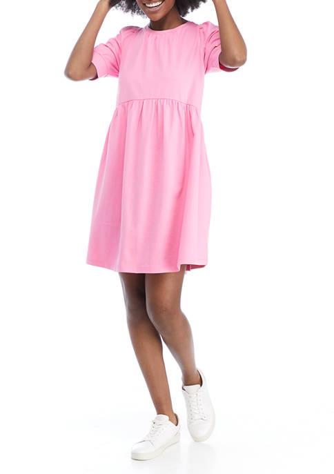 Crown & Ivy™ Womens Elbow Puff Sleeve Dress