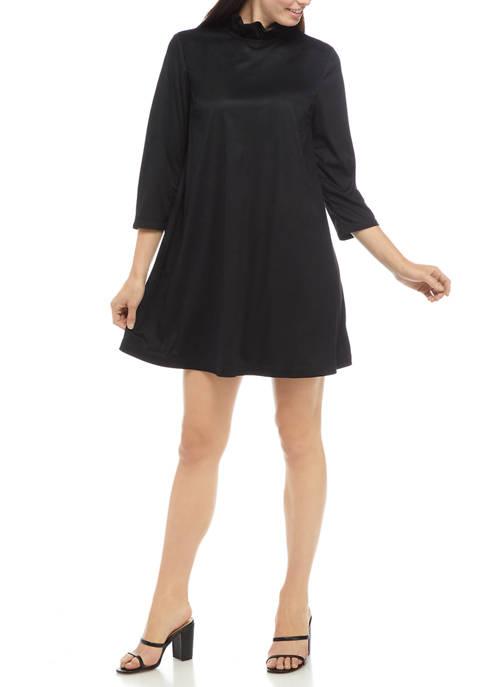 Crown & Ivy™ Womens Bow Back Ruffle Dress