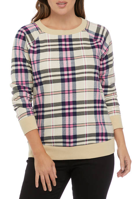 Crown & Ivy™ Womens Long Sleeve Bow Back