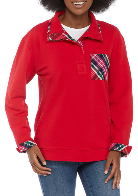 Crown & Ivy™ Plus Size Harper Long Sleeve