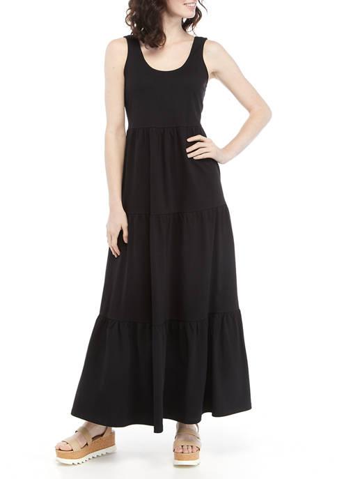 Womens Sleeveless Knit Maxi Dress