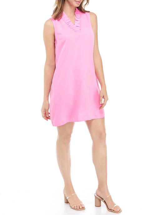 Crown & Ivy™ Womens Sleeveless Ruffle Dress