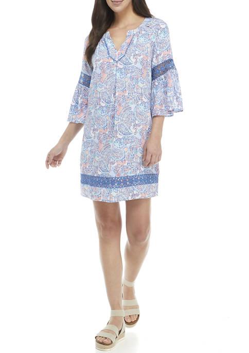Crown & Ivy™ Womens Crochet Peasant Dress