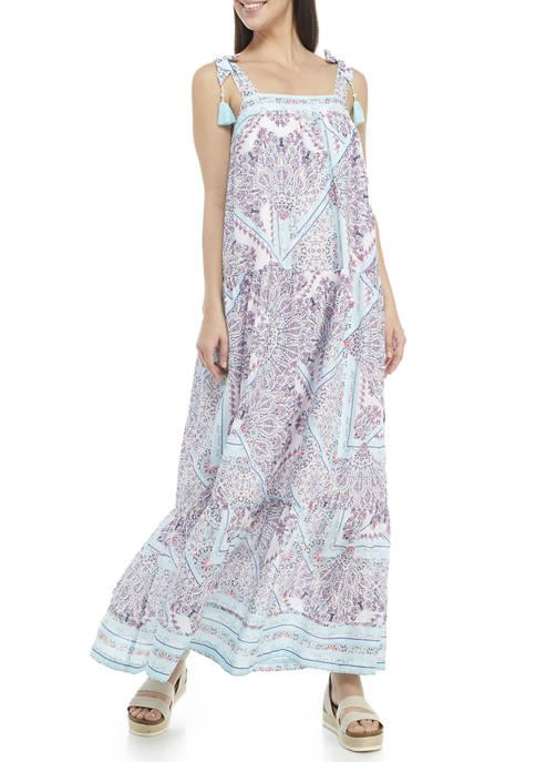 Crown & Ivy™ Womens Sleeveless Swing Maxi Dress
