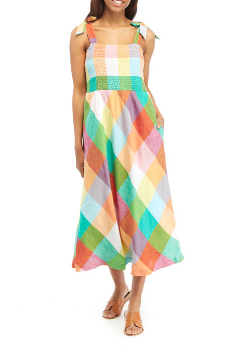 Crown & Ivy™ Womens Sleeveless Smocked Dress