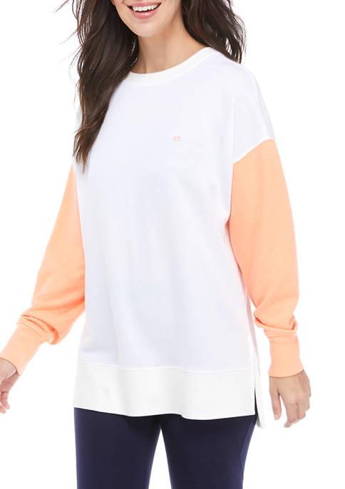 Crown & Ivy™ Womens Long Sleeve Sweeper Top