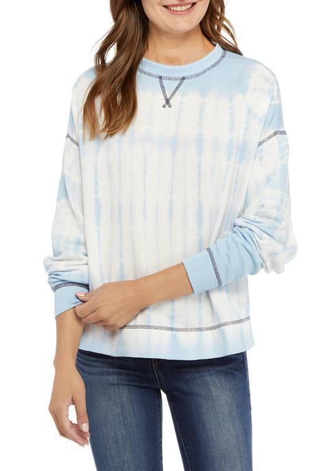 Crown & Ivy™ Womens High Low Tie Dye