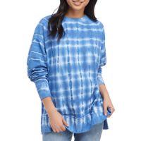 Crown & Ivy Womens Drop Shoulder Tie Dye Sweeper Pullover Deals