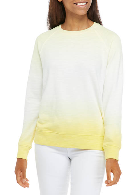 Crown & Ivy™ Womens Long Sleeve Ombré Sweeper