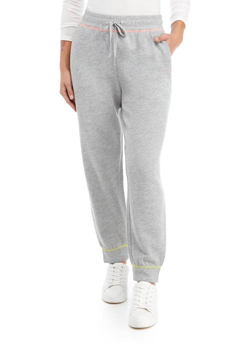 Crown & Ivy™ Womens Contrast Stitch Joggers