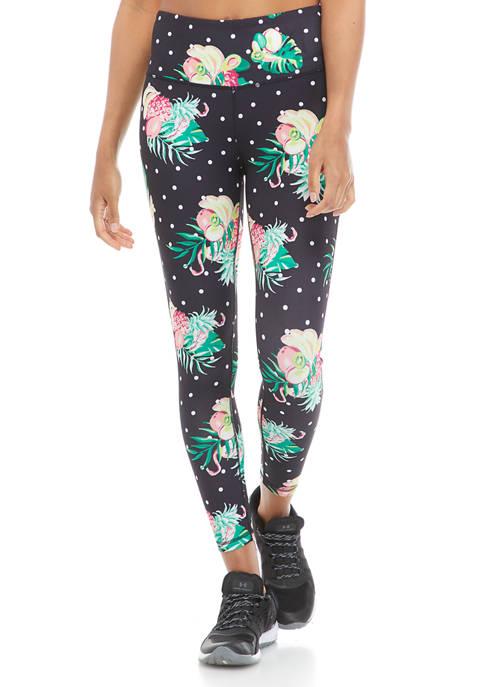 Crown & Ivy™ Womens Tropical Print Leggings