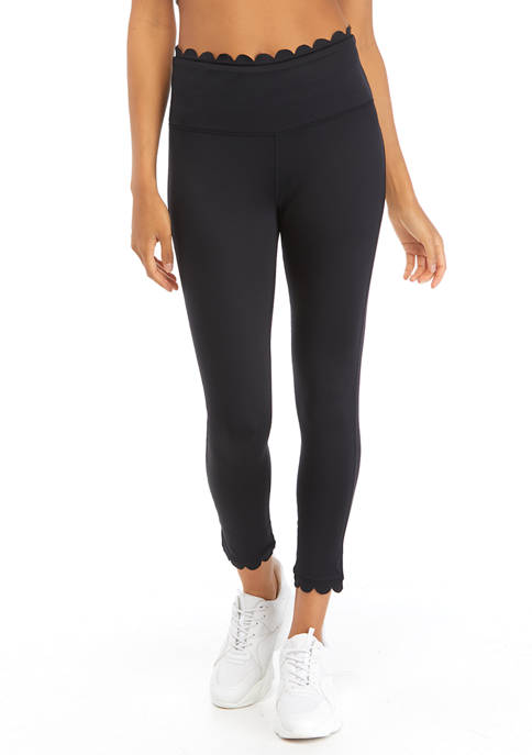Crown & Ivy™ Womens Scalloped Leggings