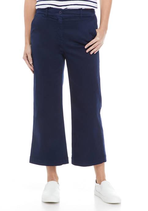 Crown & Ivy™ Womens Slim Wide Leg Cropped