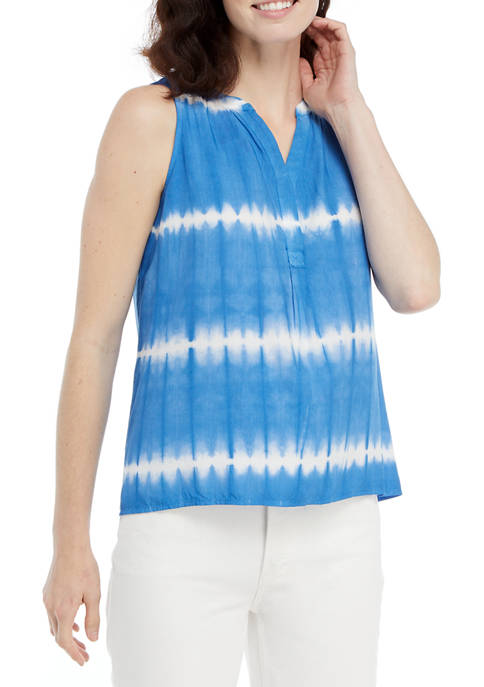 Crown & Ivy™ Womens Sleeveless Peasant Top