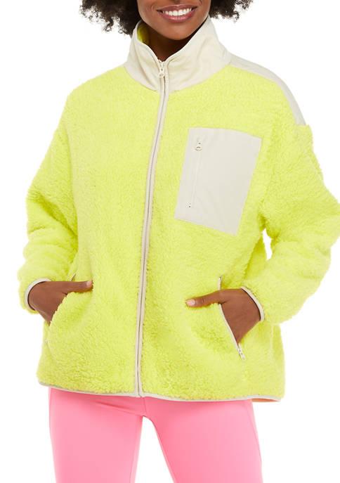 Crown & Ivy™ Womens Long Sleeve Pocket Zip