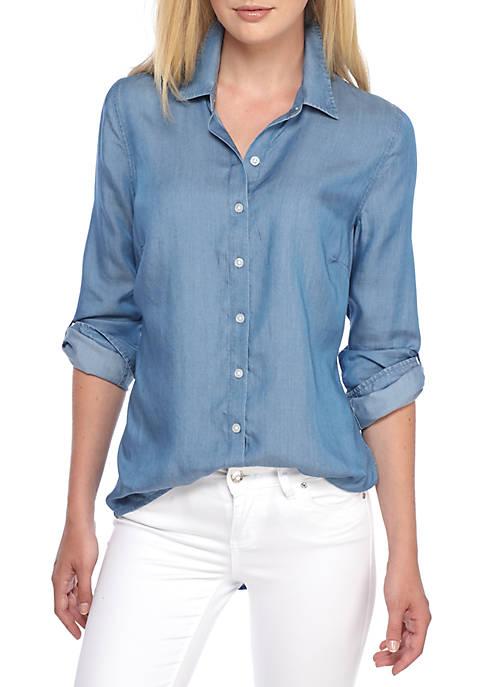 Crown & Ivy™ Chambray Tunic Shirt