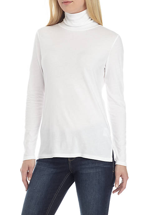 Crown & Ivy™ Womens Long Sleeve Knit Turtleneck