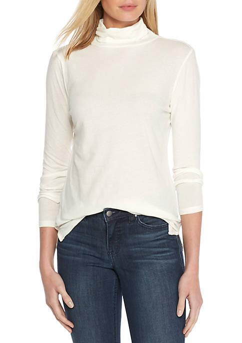 Womens Long Sleeve Knit Turtleneck Top