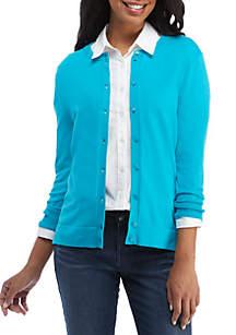 Crown & Ivy™ Long Sleeve Cardigan