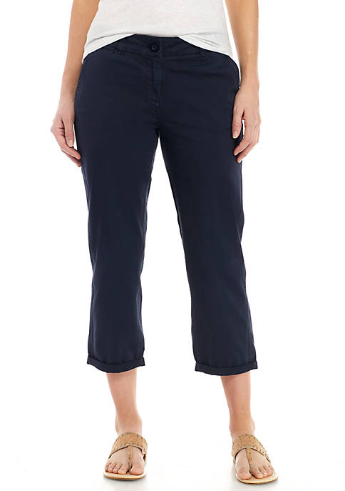 Crown & Ivy™ Womens Charlotte Relaxed Roll Chinos