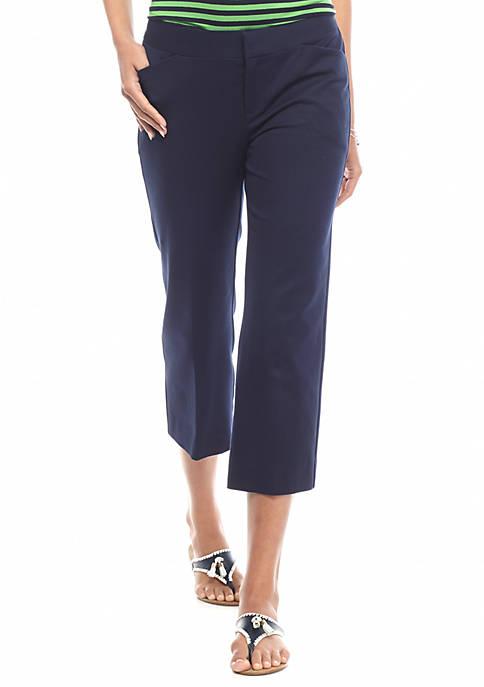 Crown & Ivy™ Wide Leg Bi-stretch Crop Pants