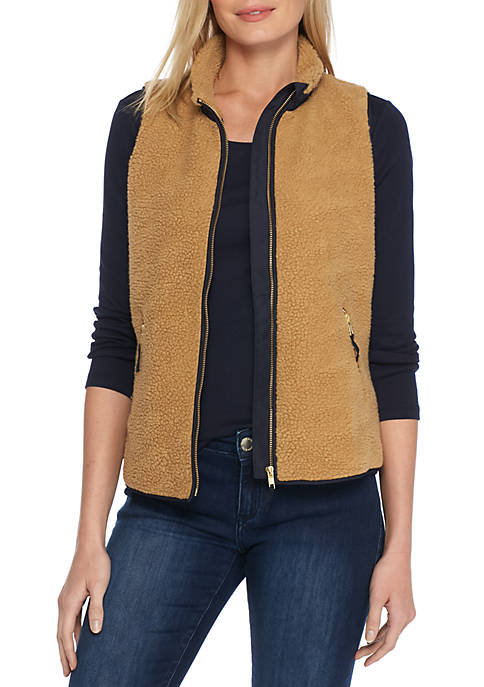 Crown & Ivy™ Sherpa Vest