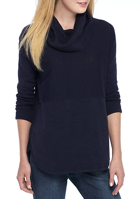 Solid Cowl Neck Sweater