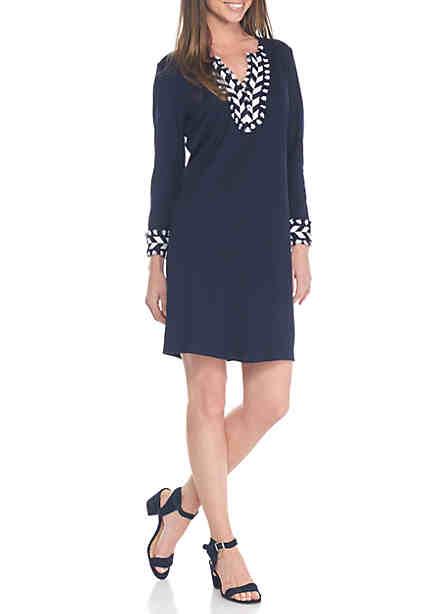 Crown & Ivy™ Embroidered Kaftan Dress ...