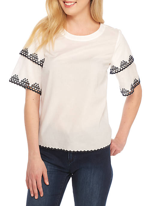 Crown & Ivy™ Tiered Sleeve Top