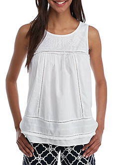Crown & Ivy™ Woven Sleeveless Top
