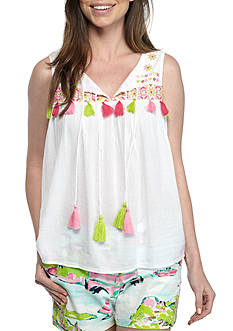 Crown & Ivy™ Embellished Sleeveless Top