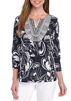 Crown & Ivy™ Knit Peasant Top