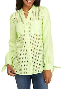 Long Sleeve Textured Tunic