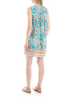 c6c0284fbc0130 ... Crown   Ivy™ Sleeveless Smocked Yoke Printed Dress