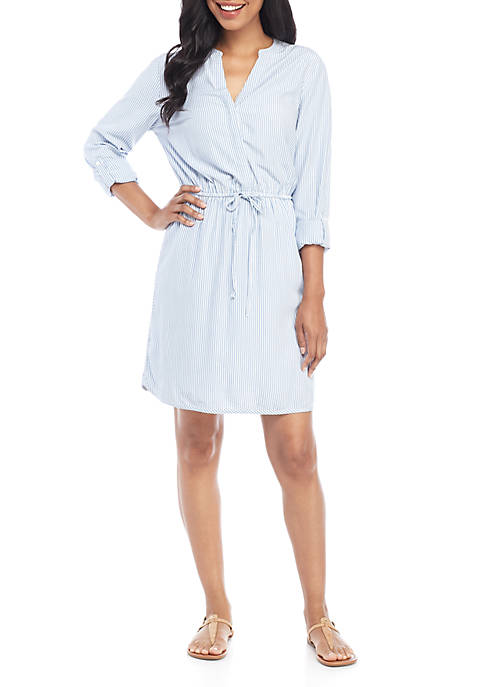 Crown & Ivy™ Long Sleeve Shirt Dress