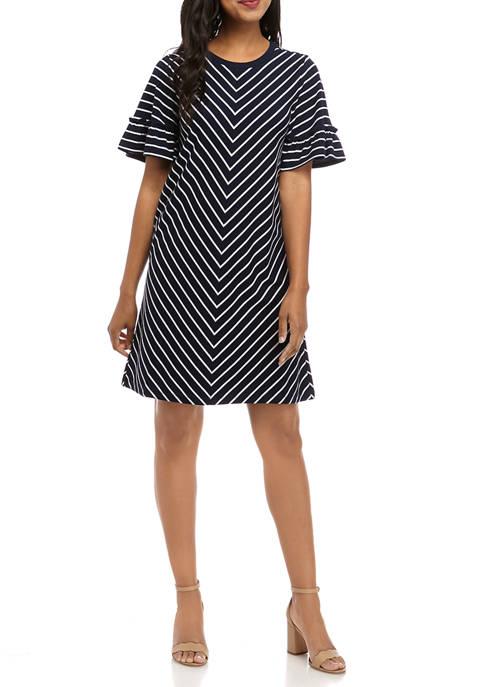 Crown & Ivy™ Short Sleeve Shirt Dress
