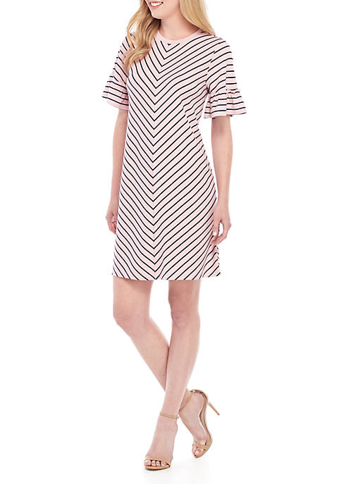 Crown & Ivy™ Short Sleeve Shirt Dress