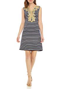 Crown & Ivy™ Sleeveless Soutache Dress