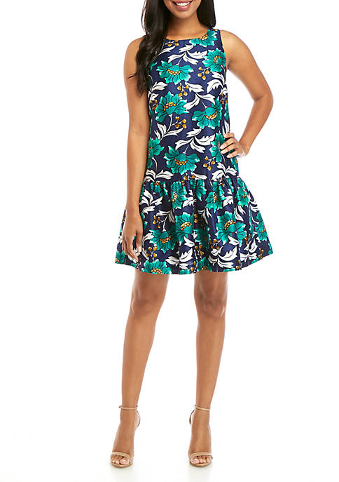 Crown & Ivy™ Printed Sleeveless Dress