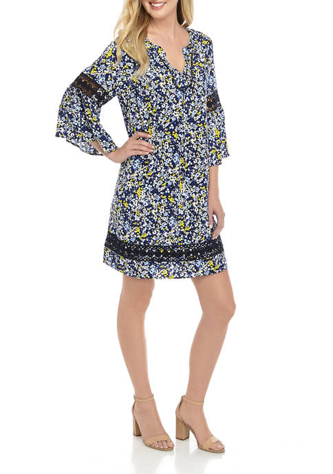 Crown & Ivy™ Womens Floral Print Peasant Dress