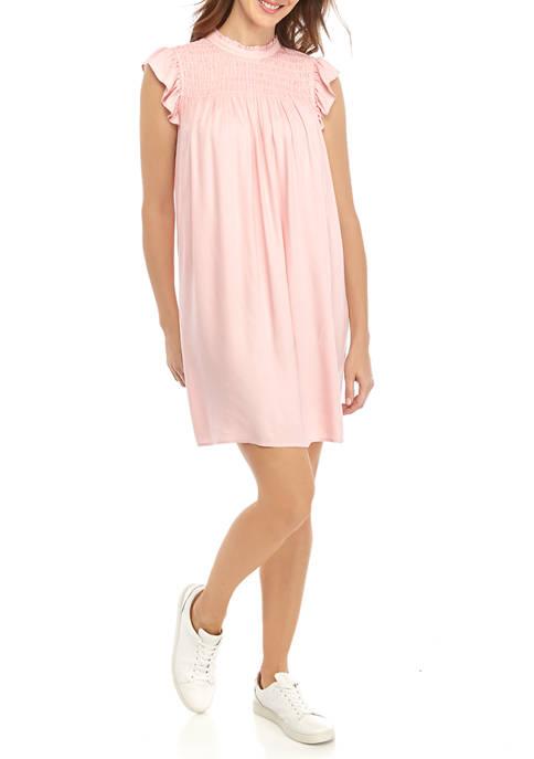 Womens Smocked Yoke Dress