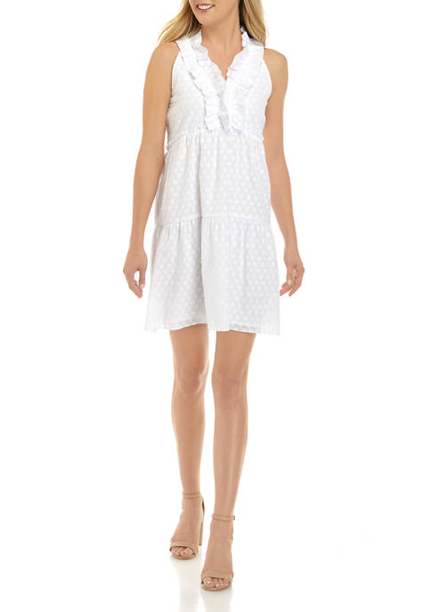 Crown & Ivy™ Womens Sleeveless Ruffle Dress