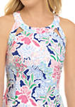 Womens Sleeveless Strap Printed Dress