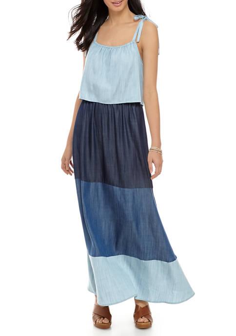 Womens Tiered Maxi Dress