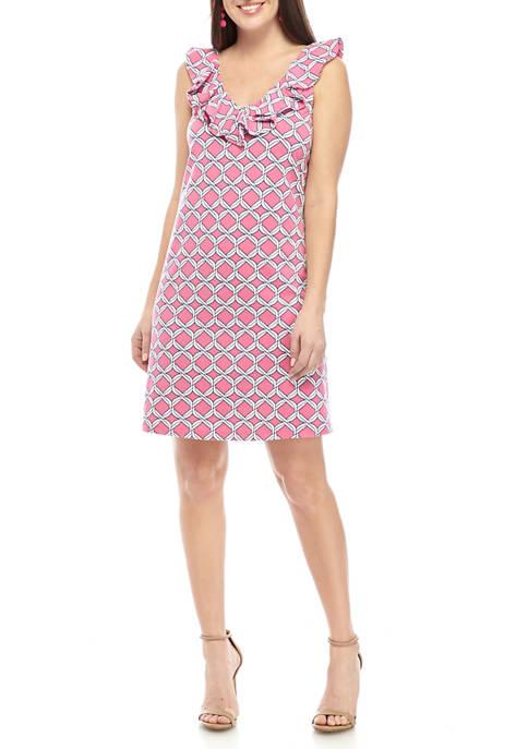 Crown & Ivy™ Womens Sleeveless Flounce Dress