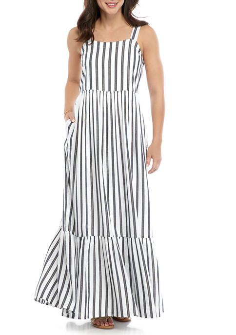 Crown & Ivy™ Womens Sleeveless Yarn Dyed Maxi